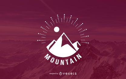 Hipster mountain logo template
