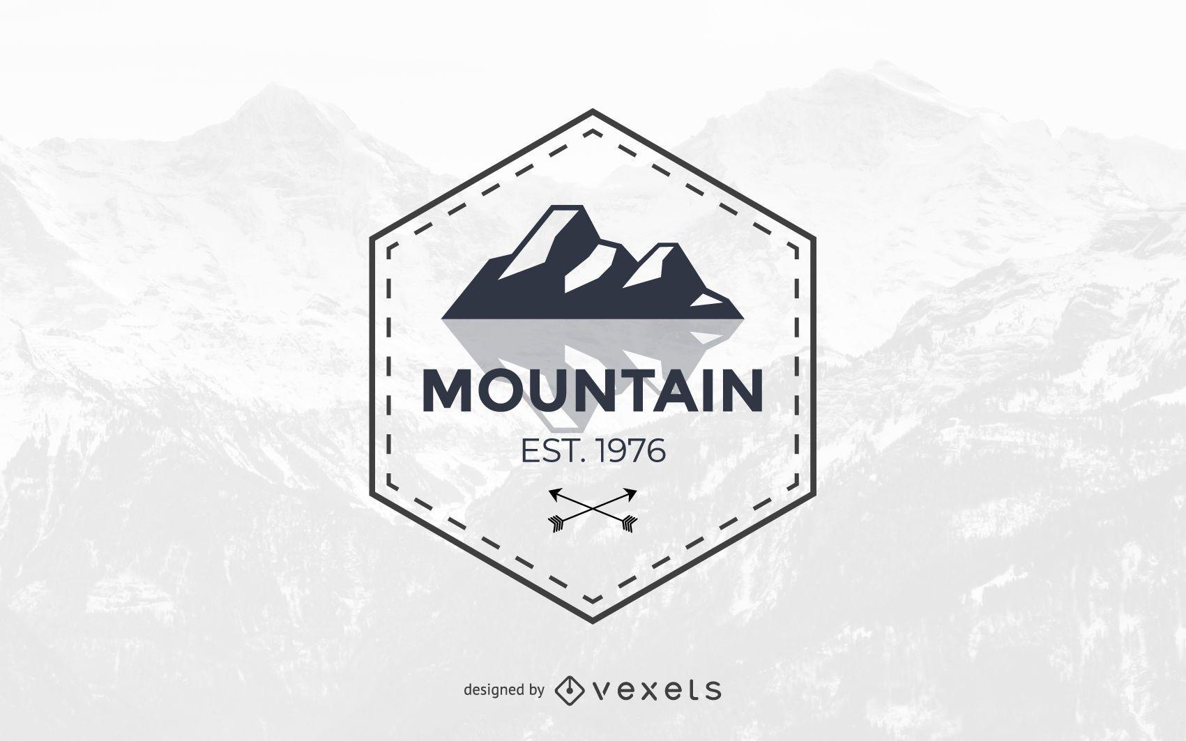 Modelo de design de logotipo de montanha abstrato
