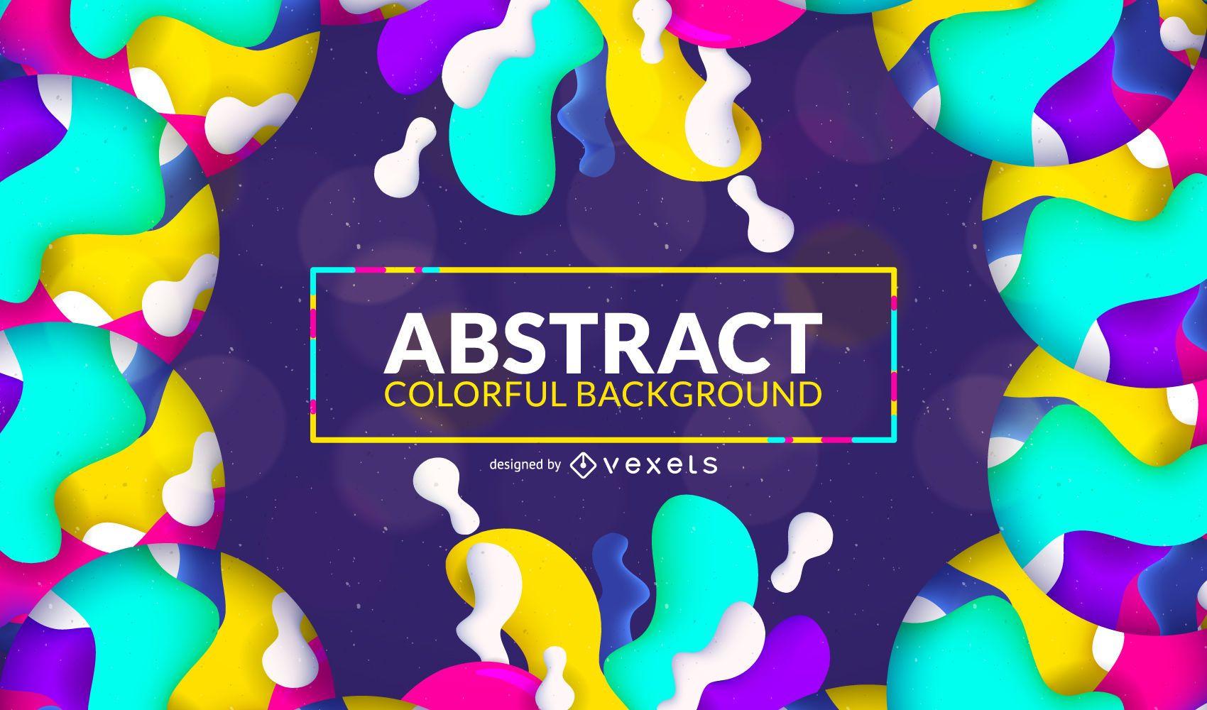 Fondo abstracto colorido salpicaduras