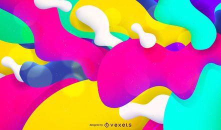 Künstlerischer Farbenspritzenhintergrund