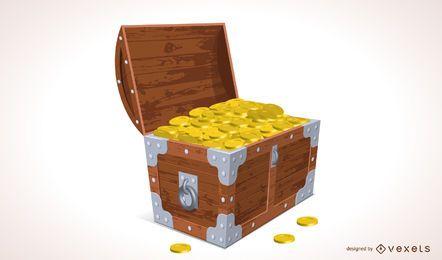 Ilustración del cofre del tesoro