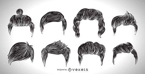 Colección de corte de pelo de los hombres