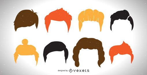 Colorful men haircut collection