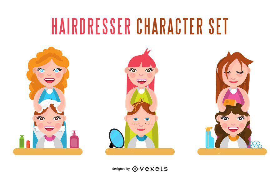 Hairdresser character set