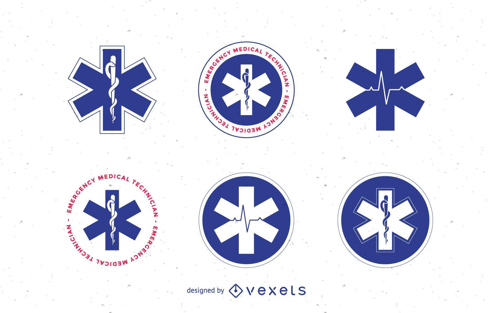 Conjunto de plantillas de logotipo médico y de emergencia