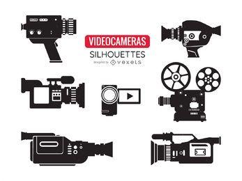 Videokamera-Silhouetten eingestellt