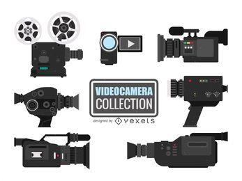 Coleção de ilustrações de câmeras de vídeo