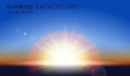 Beautiful sunrise background