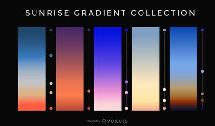 Coleção gradiente do nascer do sol