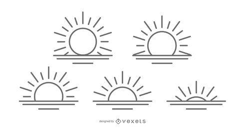 Coleção de ícone do nascer do sol