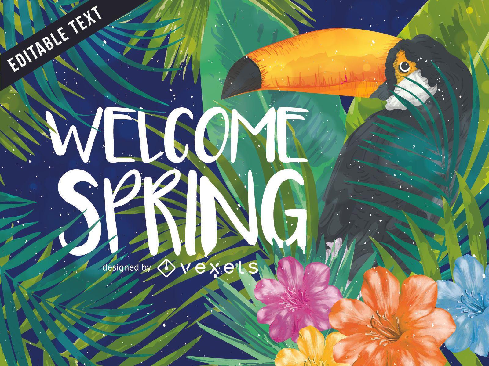 Willkommen Frühling Natur Hintergrund