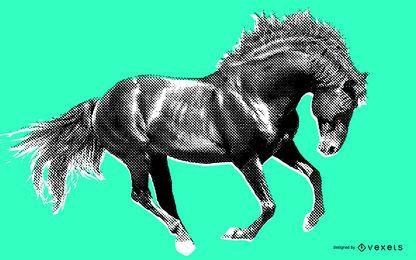 Ilustração de cavalo selvagem