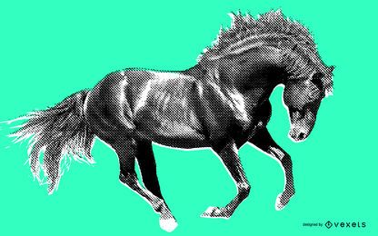 Ilustración de caballo salvaje