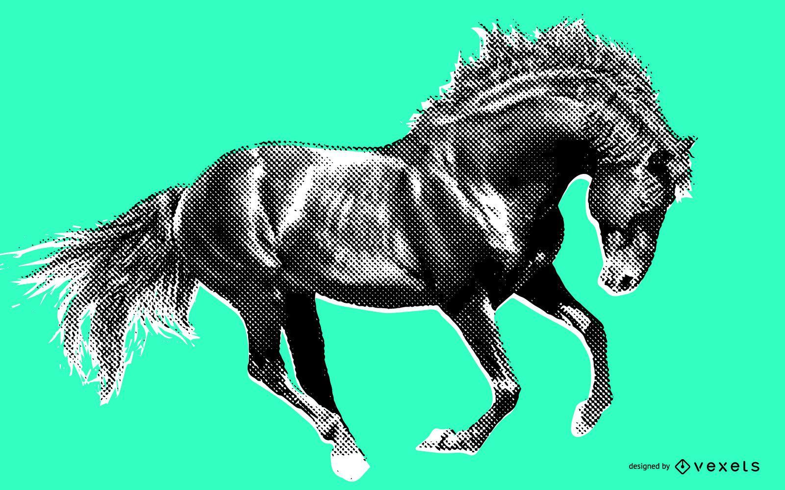Wild horse illustration