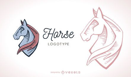 Horse logo template illustration