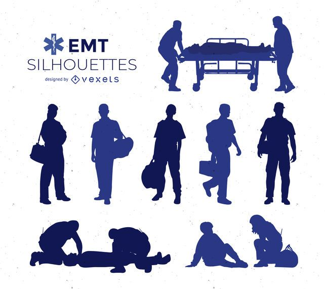 Coleção de silhueta EMT