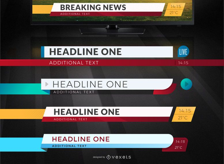 Television news headlines patterns