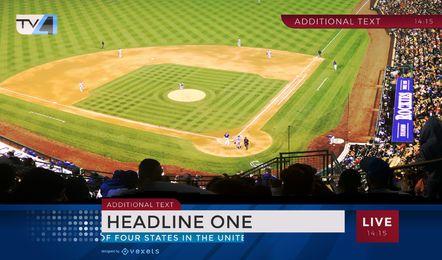 Gráfico de notícias de esportes de beisebol