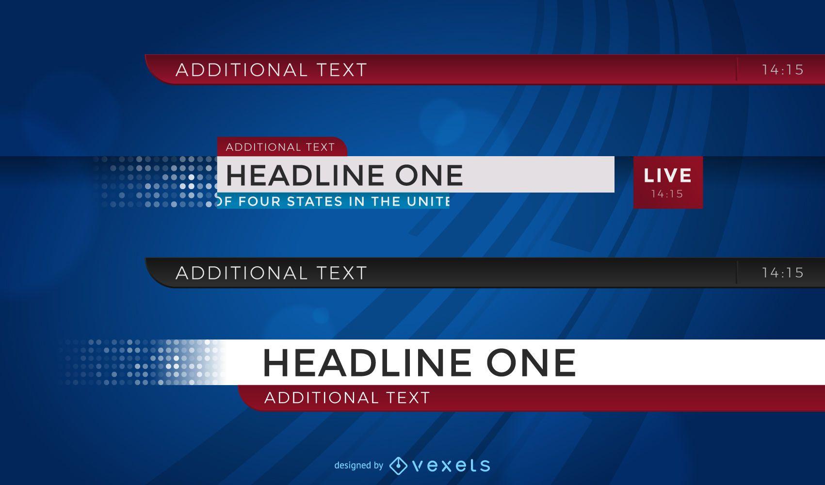 Conjunto de manchetes de notícias