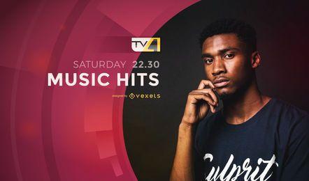 Êxitos de música de televisão mostram tela