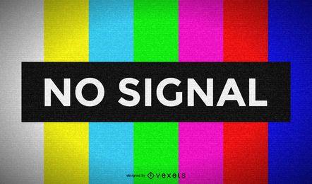 Televisão sem tela de sinal