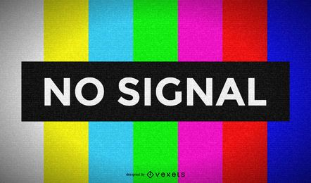 Televisión sin pantalla de señal.
