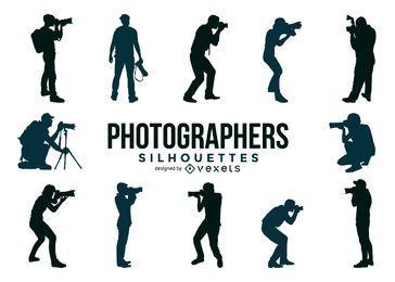 Coleção de silhuetas do fotógrafo