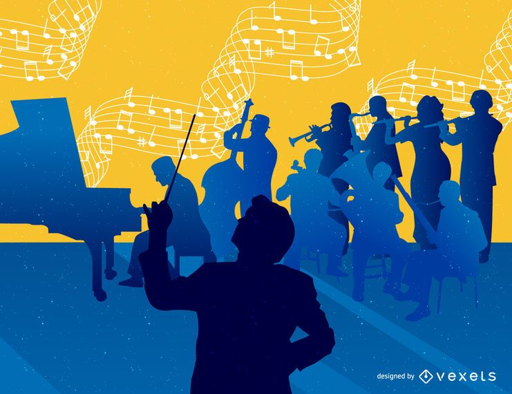 Fondo de orquesta musical