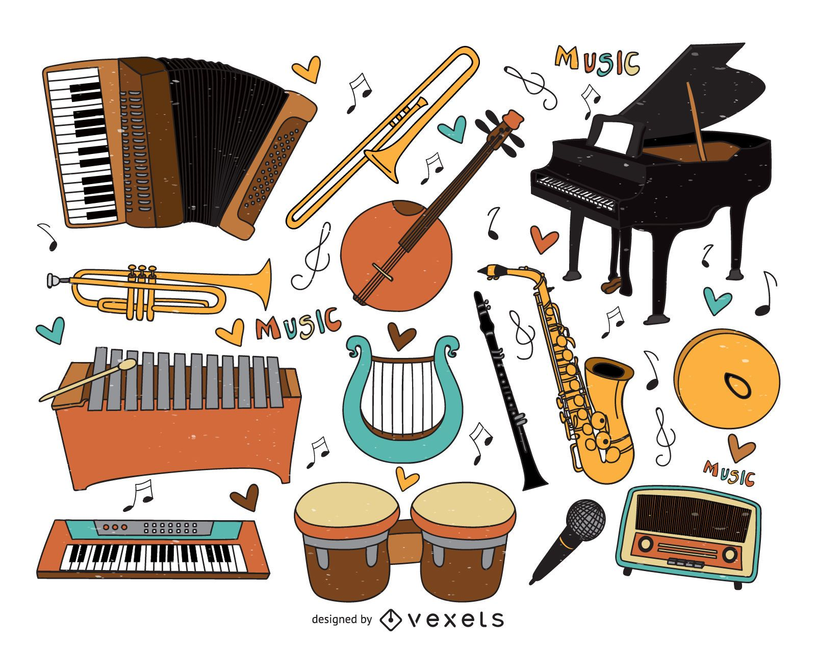 Cartoon Violin Images: Musical Instruments Cartoons Collection