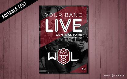 Design de cartaz de concerto de música