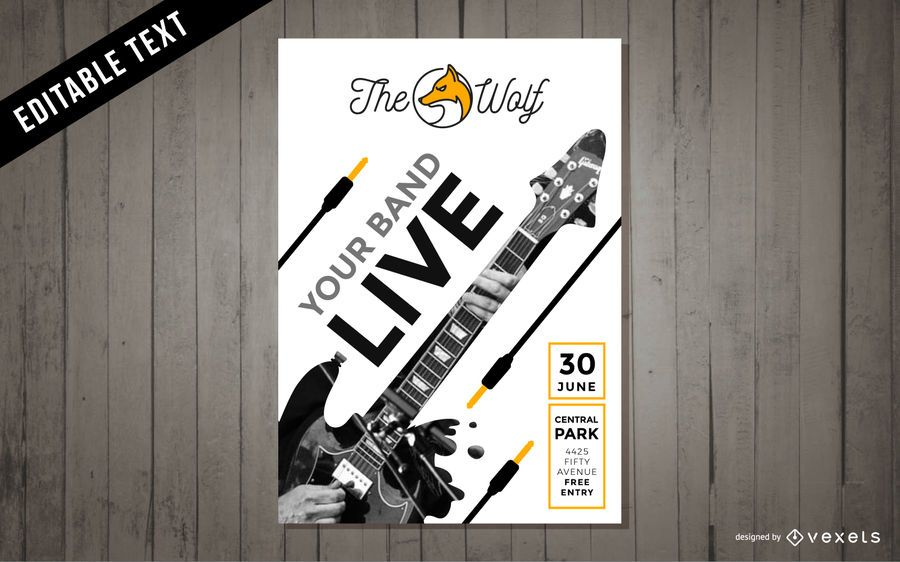 Clipart de cartaz de concerto de música