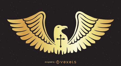 Design de emblema de águia