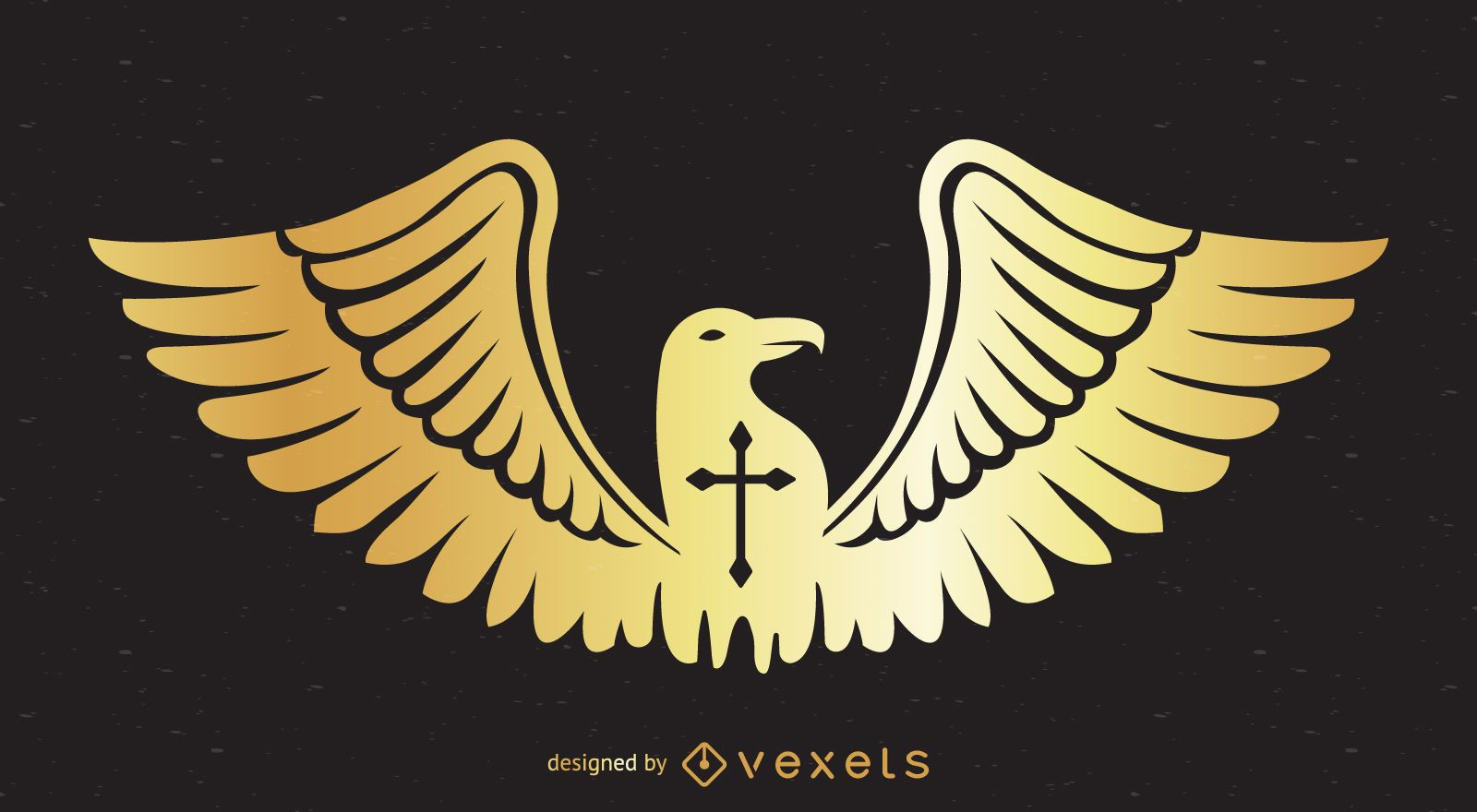 Diseño de insignia de águila