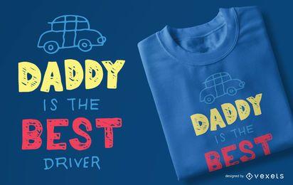 Melhor motorista crianças design de t-shirt