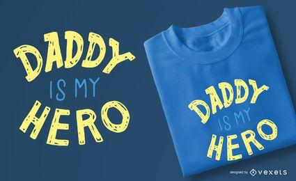 Projeto do t-shirt dos miúdos do herói do paizinho