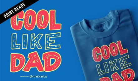 Cool dad kids t-shirt design