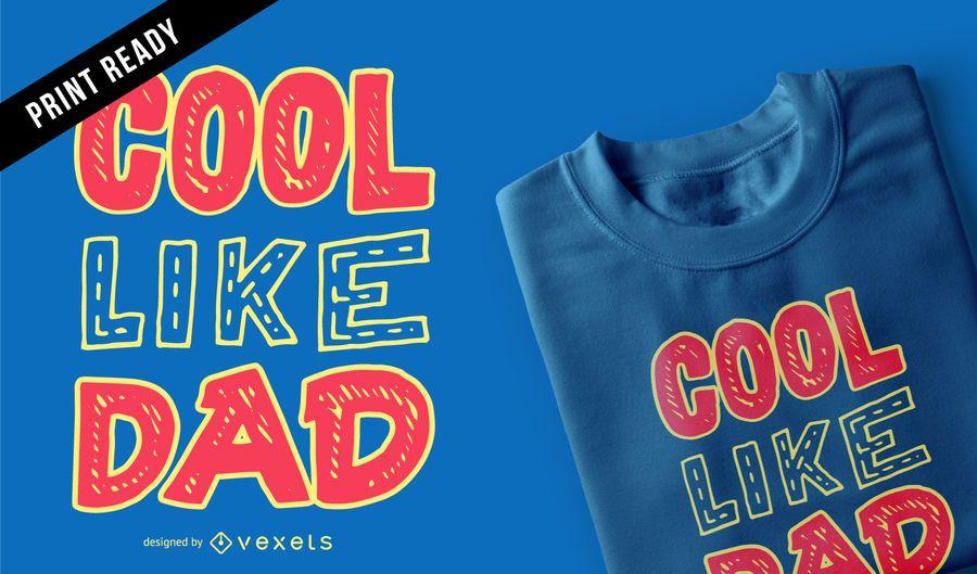 Diseño fresco de la camiseta de los niños del papá