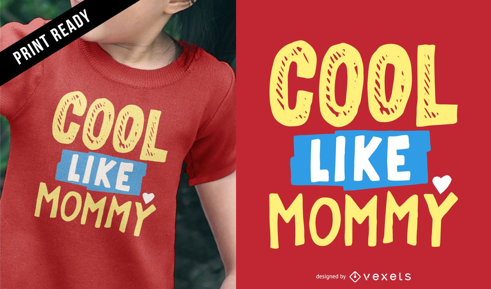 Cool mommy kids t-shirt design - Vector download