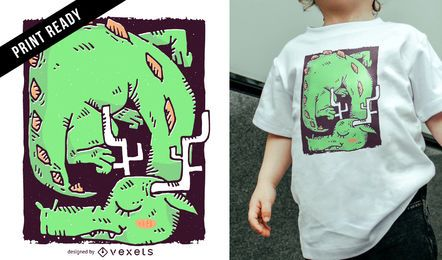Sleeping dragon kids t-shirt design