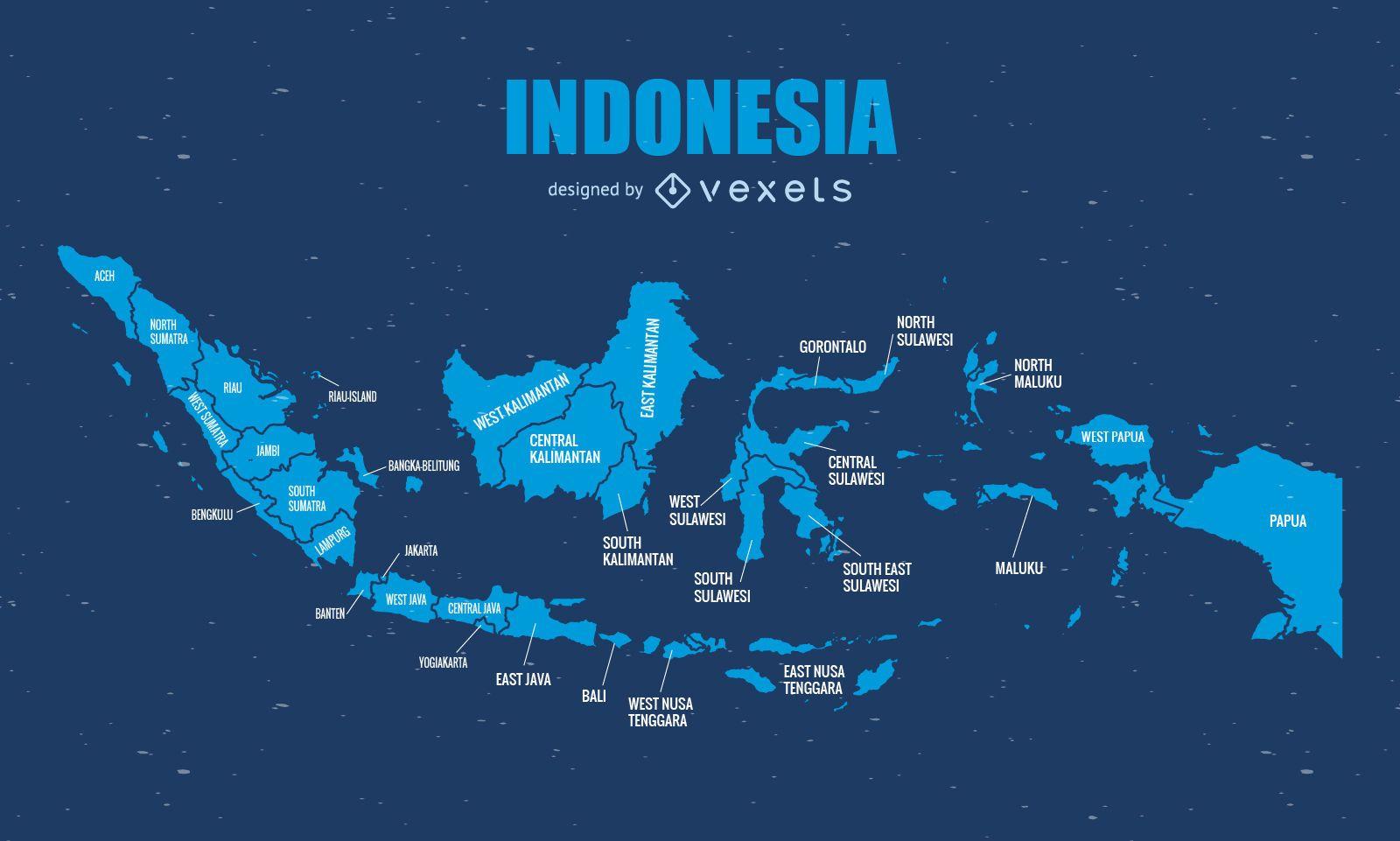 Gráfico de mapa administrativo de Indonesia