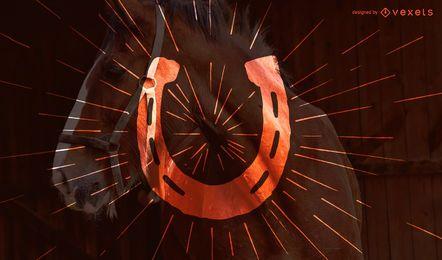 Design de silhueta de ferradura