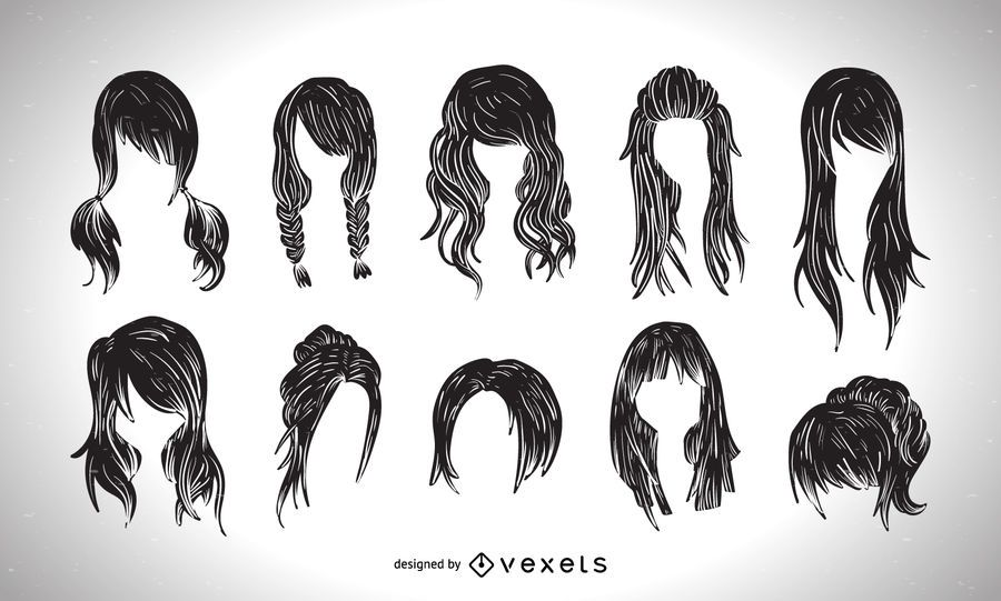 Women haircut style graphic collection