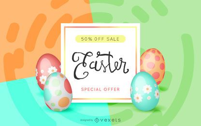 Diseño de oferta de venta de Pascua