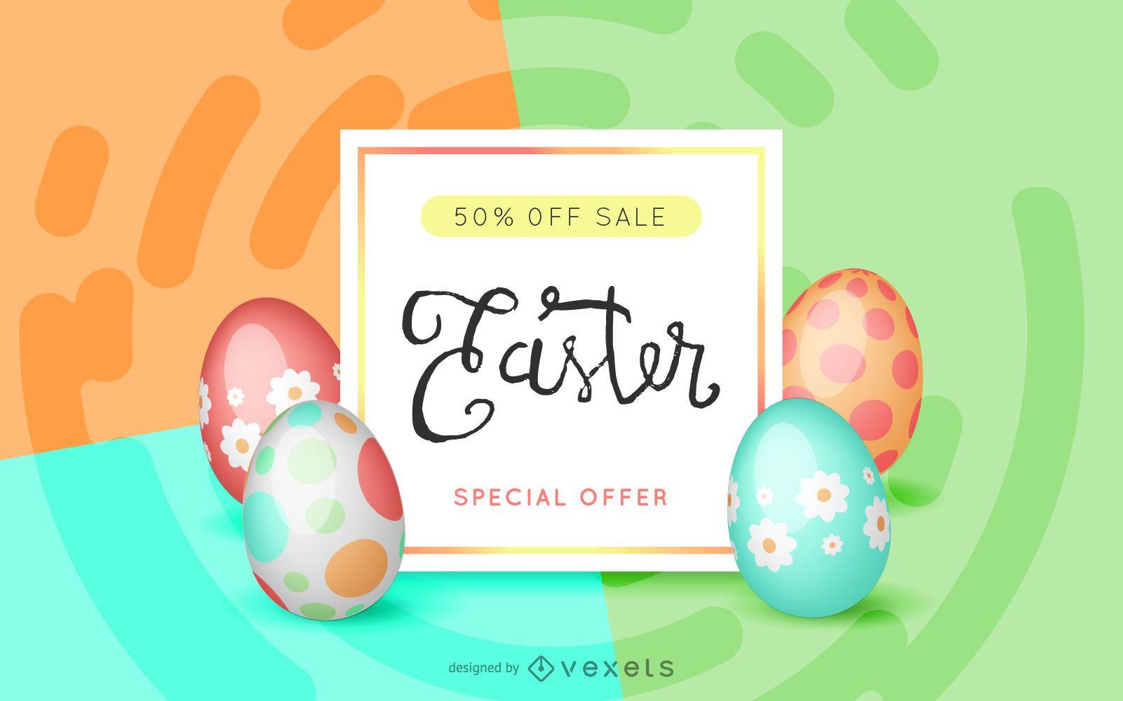 Easter sale offer design