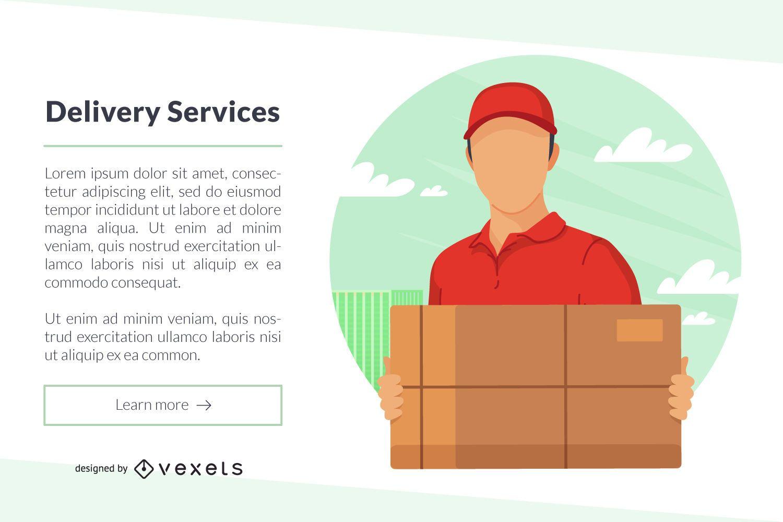 Banner de serviços de entrega Web Template