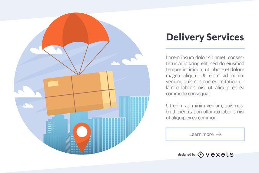 Plantilla de ilustración de servicios de entrega