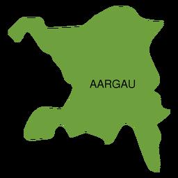 Mapa do cantão de Aargau