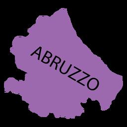 Mapa da região de Abruzzo