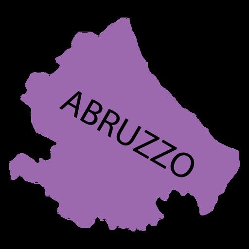 Mapa de la región de Abruzzo Transparent PNG