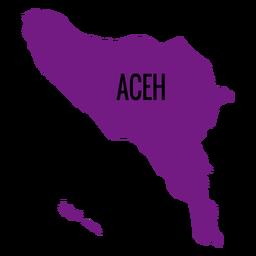 Mapa da província de Aceh